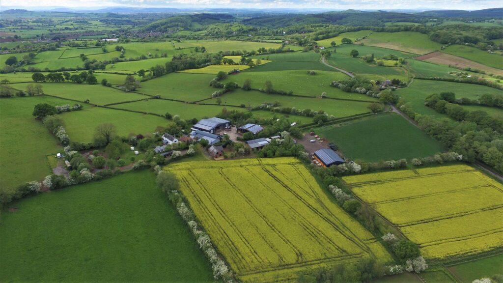 Aerial image of Caplor farm